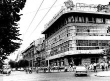 Дерибасовская угол Маркса (Екатерининская), ресторан «Юбилейный», 1970 г.