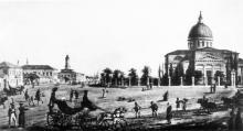 Соборная площадь и Спасо-Преображенский собор в начале XIX века