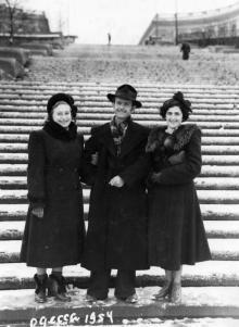 Одесса. На Потемкинской лестнице. 1954 г.