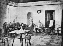Куяльницкий (Андреевский) лиман. Ожидальный зал при грязелечебнице д-ра Амброжевича