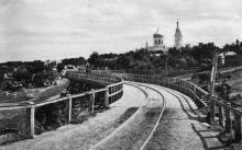 Дача Ковалевского, 16, церковь в честь равноапостольных Константина и Елены, построена в 1901 г., разрушена в 1930-х годах
