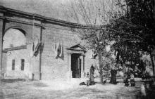 Одесса, вход в воскресную читальню при музее изящных искусств (сейчас вход в выставочный зал), 1899 г.