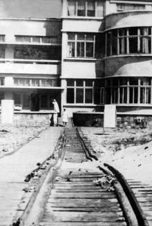 Узкоколейка от санатория «Затока» к морю, 1947 г.
