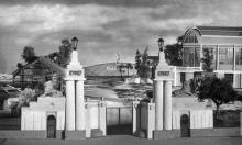 Макет, выполненный в 1969 году к 50-летию киностудии: вход на территорию Одесской кинофабрики в 1922 г.