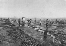 Пляж в Лузановке, 1920-е годы