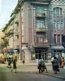 Переулок Вице-адмирала Жукова, угол ул. Карла Либкнехта. Фото в фотоальбоме «Одесса. Память города-героя», 1989 г.
