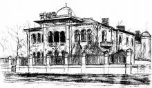 Французский бульвар угол Кирпичный переулок, дом А.И. Макареско, рисунок 1912 г.