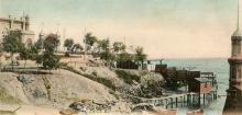 Берег в Аркадии, почтовая открытка, по штемпелю 1904 г.