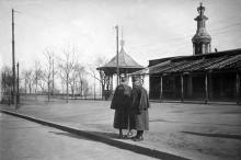Французские генералы д'Ансельм и д'Эспере на Приморском бульваре, 1919 г.
