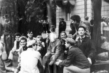 На ул. Горького, возле техникума измерений, 1966 г.