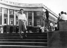 Потемкинская лестница и памятник Ришелье. Одесса. 1962 г.