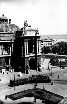 Театр оперы и балета. Фото А. Фатеева. 1950 г.