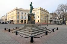 Памятник Дюку де Ришелье, фотограф Олег Владимирский, 21 декабря 2014 г.