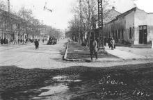 Ул. Колонтаевская угол ул. Мастерской (Серова), 1942 г.