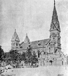 Вновь отстроенная кирха в Одессе, 1899 г.