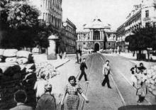 Баррикады на улице Ленина (Ришельевской), 1941 г.