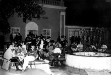 Ул. Дерибасовская, в кафе «Йокогама», на месте кинотеатра «Комсомолец», начало 1990-х годов