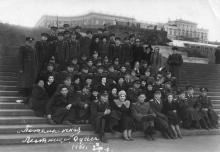 Одесса, на Потемкинской лестнице, 1949 г.