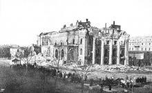 Одесса, городской театр после пожара, 1873 г.