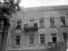 Одесса, фасад дома по переулку Чайковского (Театральный), 10, фотограф В.Г. Никитенко, 1970-е годы