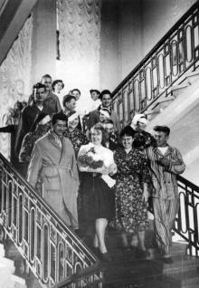 Одесса, институт Филатова, главная лестница административно-лечебного корпуса