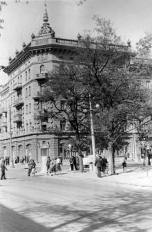 Ул. Дерибасовская угол Карла Маркса, 1950-е годы