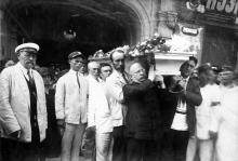 Одесса, ул. Льва Толстого, 6, похороны Я.Л. Бардаха, 17 июля 1929 г.