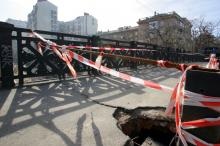 Одесса, ул. Бунина, мост Коцебу, фотограф Вячеслав Теняков, 27 февраля 2015 г.
