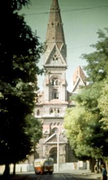 Одесса, вид с ул. Петра Великого на Кирху, фотограф Василий Фертюк, начало 1970-х годов