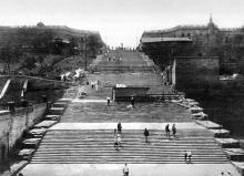 Одесса, реставрация Бульварной (Потемкинской) лестницы, конец 1920-х годов