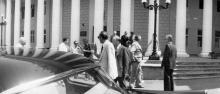 Одесса, на Думской площади перед горсоветом, 1970-е годы