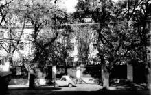 Одесса, ул. Чичерина, забор обувной фабрики, 1970-е годы