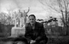 Одесса, ЦПКиО им. Т.Г. Шевченко, на фото Олег Константинович Добролюбский, территория нынешнего (2015 г.) луна-парка, конец 1950-х годов