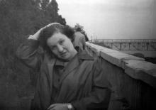 Одесса, в санатории Чкалова у лифта, 1960 г.
