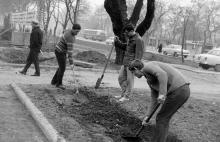 Одесса, студенты политехнического института на субботнике, фотограф Volker Tommack, начало 1970-х годов