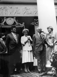Одесса, Арманд Хаммер на открытии выставки произведений из своей коллекции, сентябрь 1986 г.