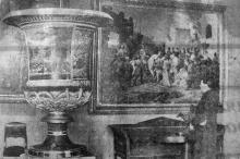 Главный зал художественного музея в Одессе, фотография в газете, фото В. Зегауса, 1943 г.