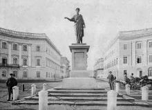 Одесса. Памятник Дюку де-Ришелье. 1870 г.