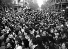 Одесса, ул. Ленина угол ул. Дерибасовской, 1 апреля 1988 г.