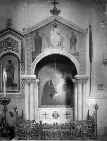 Интерьер собора после реконструкции 1900-1903 г. Могила князя Воронцова