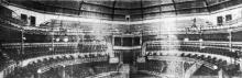 Одесса. Цирк «Варьете» Санценбахера. Вид с эстрады для оркестра на главный вход