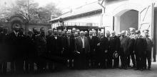 Одесса. Валиховский переулок, 10, во дворе. Открытие станции скорой помощи. 29 апреля 1903 г.