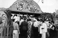 Одесса, ул. Свердлова, гастроли шведского цирка на стадионе «Спартак», 1950-е годы