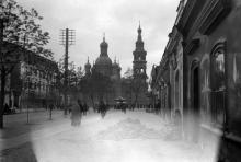 Одесса. Вид на Вознесенскую (Мещанскую) церковь с ул. Тираспольской