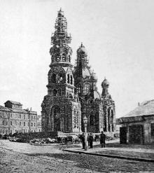 Одесса. Строительство Вознесенской (Мещанской) церкви, 1896 г.