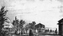 Одесса, Приморский (Николаевский) бульвар, гравюра, 1850-е годы