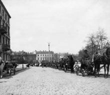 Одесса. Стоянка извозчиков у Сабанеева моста. 1900 г.