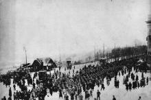 Одесса. Германские войска на Николаевском бульваре