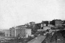 Одесса. Вид на Таможенную площадь. 1918 г.