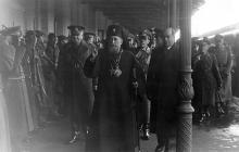 Одесса. На железнодорожном вокзале румынский православный митрополит Виссарион (Виктор Пую), 6 декабря 1942 г.